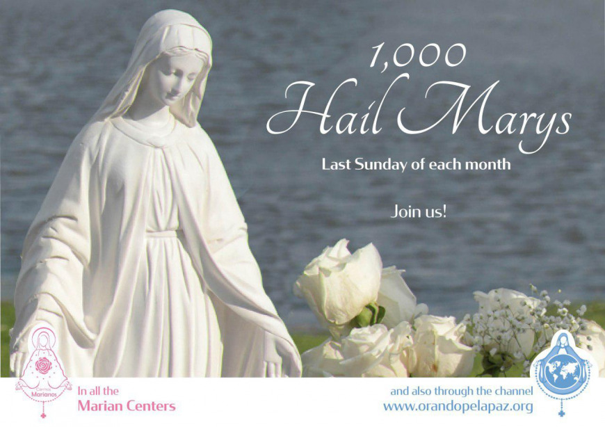 Praying 1,000 Hail Marys for Peace in the Nations   Voice and Echo